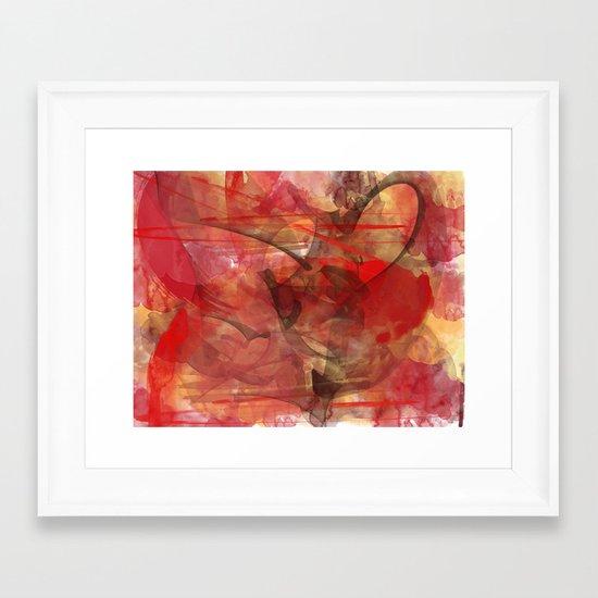 February Love Framed Art Print