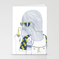 Summer Monster Stationery Cards