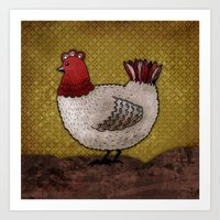Carla The Hen Art Print