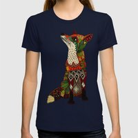 fox love mint Womens Fitted Tee Navy SMALL