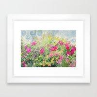 Dreamy Confetti Flower B… Framed Art Print