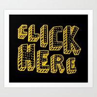 Click Here Art Print
