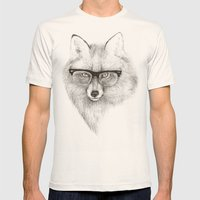 Fox Specs Mens Fitted Tee Natural SMALL