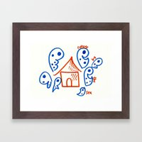 Cottage by the Sea Framed Art Print
