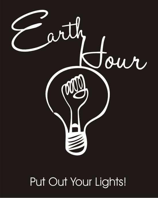 Earth Hour Art Print