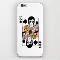 Elvis Presley Playing Card illustration  iPhone & iPod Skin