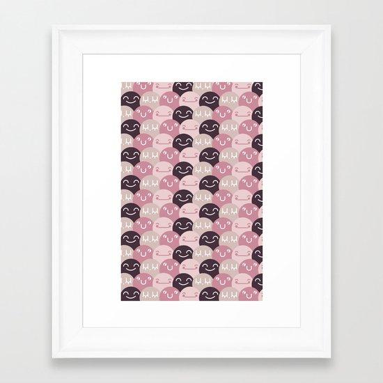Pattern Smile Framed Art Print