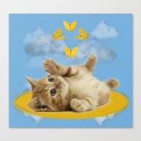 Kitty Wonder Canvas Print