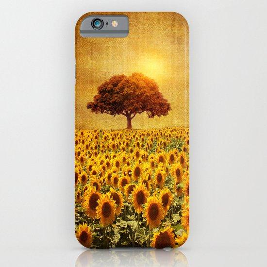 lone tree & sunflowers field (II) iPhone & iPod Case