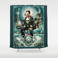 Nikola Tesla Master Of L… Shower Curtain