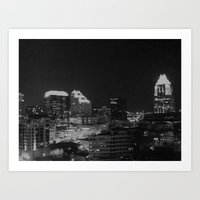 Austin Skyline Art Print