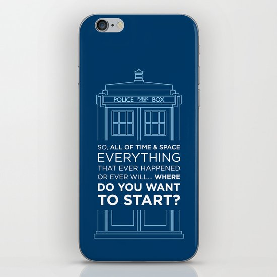 Doctor Who - TARDIS Where Do You Want to Start iPhone & iPod Skin