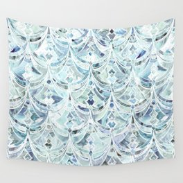 Wall Tapestry - Ice and Diamonds Art Deco Pattern - micklyn