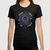 Three Turns Womens Fitted Tee Tri-Black SMALL