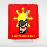 16-bit Andres Bonifacio Shower Curtain