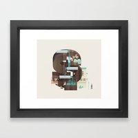 Resort Type - Letter S Framed Art Print