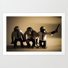 More Monkeys Art Print
