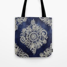 Cream Floral Moroccan Pa… Tote Bag