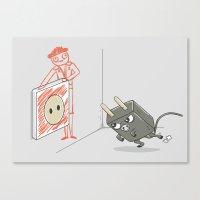 Charging Canvas Print
