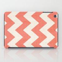 Vintage Coral Chevron iPad Case