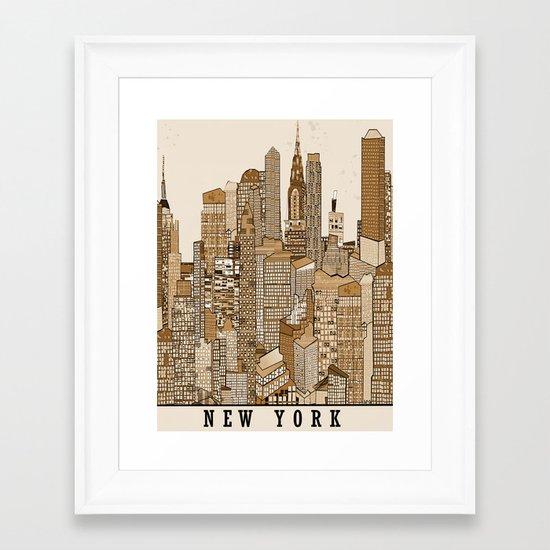 new york vintage (option) Framed Art Print