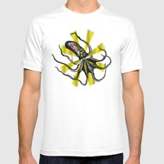 Kraken Up Mens Fitted Tee White SMALL