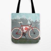 Love Bike, Love Canada Tote Bag