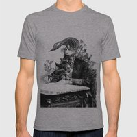 When I think about you, flowers grow out of my brain. Mens Fitted Tee Athletic Grey SMALL