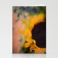 Sunflower II (mini series) Stationery Cards