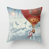 WinterFly Throw Pillow