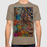 Tiger Trip Mens Fitted Tee Tri-Coffee SMALL