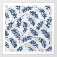 My Blue Feathers Art Print