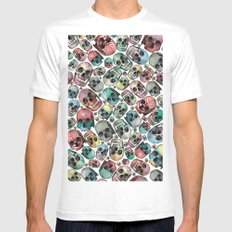 Skulls SMALL Mens Fitted Tee White