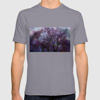 Artsy Tree Mens Fitted Tee Slate SMALL