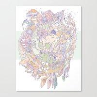 Bone & Beauty Canvas Print