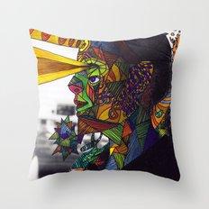 Psychoactive Bear 8 Throw Pillow