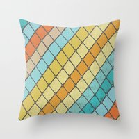 Fish Aqua Print Throw Pillow
