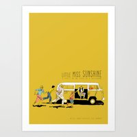 Little Miss Sunshine Art Print