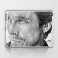Christian Bale Traditional Portrait Print Laptop & iPad Skin