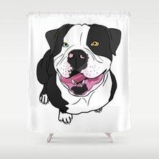 Bubba, the American Bulldog Shower Curtain