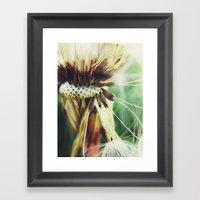 Dandelion: Seeds Vertica… Framed Art Print
