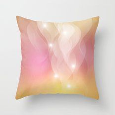 The Sound of Light and Color - pink & honey Throw Pillow