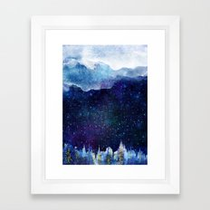 BLUE NIGHT Framed Art Print