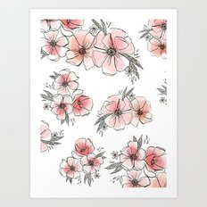 Watercolor Floral Art Print
