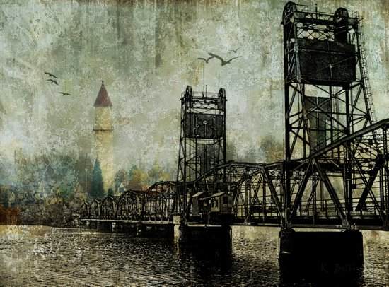 Beyond the Bridge Art Print