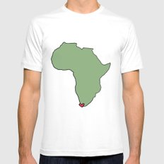 Ali Hearts Cape Town SMALL White Mens Fitted Tee