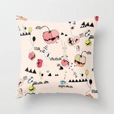Poppies Print Throw Pillow