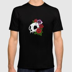 Kitty Skull Mens Fitted Tee Black SMALL