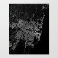 Sydney Map Australia Canvas Print
