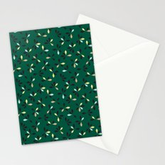 loves me loves me not pattern - hunter green Stationery Cards